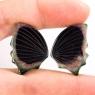 Пара резных полихромных турмалинов Бабочка, общий вес 39.85 карат, размер 26.8х19.4мм (turm0278)