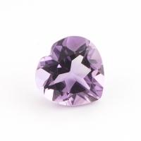 Аметист бледно-фиолетовый сердце размер 9х9мм