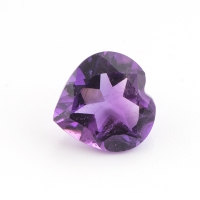 Аметист ярко-фиолетовый сердце размер 9х9мм