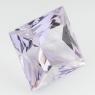 Бледно-фиолетовый аметист отличной российской огранки формы квадрат, вес 22.59 карат, размер 16.1х16.1мм (amth0247)