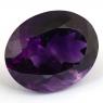 Ярко-фиолетовый аметист овал, вес 91.14 карат, размер 33.23х26.53мм (amth0276)