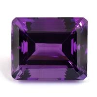 Ярко-фиолетовый аметист октагон, вес 81.71 карат, размер 28.34х23.53мм (amth0277)