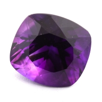 Ярко-фиолетовый аметист антик, вес 10.81 карат, размер 14.5х13.6мм (amth0303)