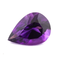 Ярко-фиолетовый аметист груша, вес 5.43 карат, размер 14.9х10.7мм (amth0304)