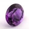 Ярко-фиолетовый аметист овал, вес 15.03 карат, размер 17.3х15.3мм (amth0306)