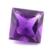 Ярко-фиолетовый аметист квадрат, вес 7.08 карат, размер 12.1х12мм (amth0307)