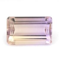 Аметрин октагон вес 5.48 карат, размер 13.7х8.5мм (amtr0070)