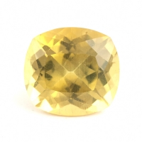 Золотисто-жёлтый апатит антик вес 13.21 карат, размер 14.9х13.8мм (apt0017)