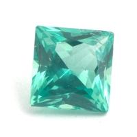 Зеленовато-голубой апатит отличной российской огранки формы квадрат, вес 1.24 карат, размер 6х6мм (apt0070)