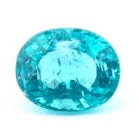 Зеленовато-голубой апатит овал, вес 1.87 карат, размер 8.4х6.7мм (apt0075)