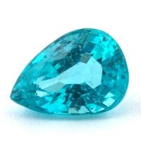 Зеленовато-голубой апатит груша, вес 2 карат, размер 9.4х6.8мм (apt0076)