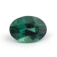 Сине-зеленый апатит овал, вес 0.73 карат, размер 7.2х5.2мм (apt0098)
