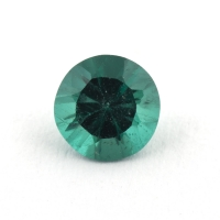 Сине-зеленый апатит круг, вес 0.5 карат, размер 5.3х5.3мм (apt0100)