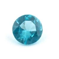 Голубовато-зеленый апатит круг, вес 0.54 карат, размер 5.6х5.5мм (apt0101)