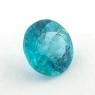Голубовато-зеленый апатит круг, вес 0.97 карат, размер 6.6х6.6мм (apt0102)