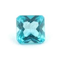 Голубовато-зеленый апатит квадрат, вес 0.55 карат, размер 5.2х5.1мм (apt0104)