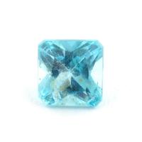 Голубовато-зеленый апатит квадрат, вес 0.61 карат, размер 4.6х4.6мм (apt0105)