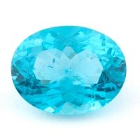 Зеленовато-голубой апатит овал, вес 2.25 карат, размер 10х7.7мм (apt0112)