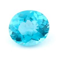 Зеленовато-голубой апатит овал, вес 1.98 карат, размер 8.7х7.5мм (apt0113)