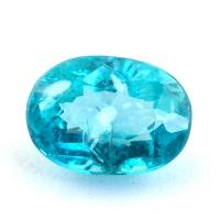 Зеленовато-голубой апатит овал, вес 1.57 карат, размер 8.4х6.1мм (apt0116)