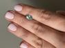 Голубовато-зеленый апатит овал, вес 1.38 карат, размер 8.3х6.3мм (apt0117)