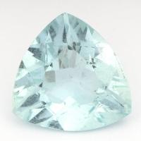 Аквамарин триллион вес 3.44 карат, размер 11.5х11мм (aqua0131)