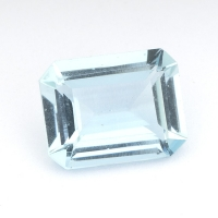Аквамарин октагон вес 2.63 карат, размер 10.2х7.9мм (aqua0193)