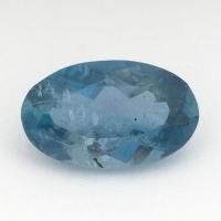 Синий аквамарин оттенка Санта Мария овал вес 1.58 карат, размер 10.35х6.35мм (aqua0205)
