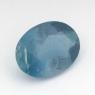 Синий аквамарин оттенка Санта Мария овал вес 1.22 карат, размер 8.65х6.45мм (aqua0206)