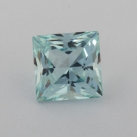 Аквамарин формы квадрат, вес 1.24 карат, размер 6.2х6.2мм (aqua0236)