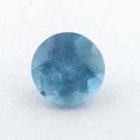 Синий аквамарин Санта-Мария формы круг, вес 0.82 карат, размер 6.15х6.15мм (aqua0276)
