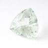 Зеленый берилл триллион вес 7.46 карат, размер 13.8х13.7мм (beryl0077)