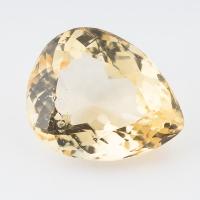 Золотистый берилл гелиодор груша вес 11.78 карат, размер 17.3х14мм (beryl0095)
