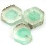 Комплект спилов кристалла бесцветно-зелёного берилла, общий вес 20.67 карат, размер 13х12мм (beryl0116)