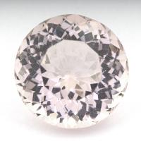 Розовый берилл морганит круг вес 15.02 карат, размер 16х15.9мм (beryl0119)