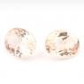 Пара персиково-розовых бериллов морганитов общим весом 2.28 карат, размер 7.3х5.8мм (beryl0121)