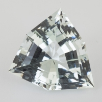Бледно-зеленый берилл триллион вес 14.89 карат, размер 19х18мм (beryl0132)