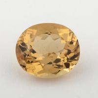Золотистый берилл гелиодор формы овал, вес 3.1 карат, размер 10.15х8.8мм (beryl0146)