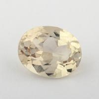 Золотистый берилл гелиодор формы овал, вес 2.38 карат, размер 10.1х8.1мм (beryl0148)