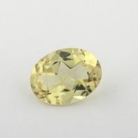 Золотистый берилл гелиодор формы овал, вес 1.08 карат, размер 8.1х6.3мм (beryl0153)