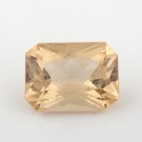 Золотистый берилл гелиодор формы октагон, вес 2.46 карат, размер 10.4х7.6мм (beryl0158)