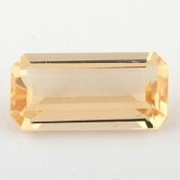 Золотистый берилл гелиодор формы октагон, вес 3.35 карат, размер 13.9х7мм (beryl0159)