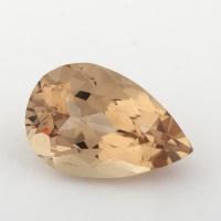 Золотистый берилл гелиодор формы груша, вес 2.75 карат, размер 12.1х8.2мм (beryl0163)