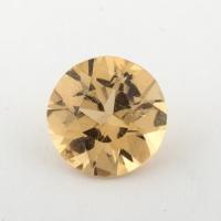 Золотистый берилл гелиодор формы круг, вес 1.87 карат, размер 8.4х8.4мм (beryl0166)