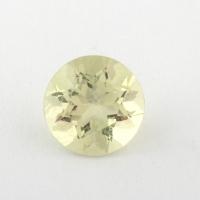 Золотистый берилл гелиодор формы круг, средний вес 0.74 карат, размер 7.5х7.5мм (beryl0170)