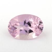 Розовый берилл морганит формы овал, вес 2.06 карат, размер 10.6х7.5мм (beryl0176)