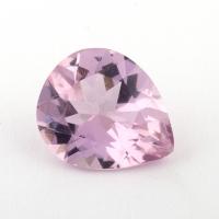 Розовый берилл морганит формы груша, вес 1.96 карат, размер 10.4х8.2мм (beryl0178)