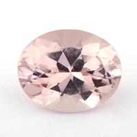 Бледно-розовый берилл морганит формы овал, вес 3.58 карат, размер 11.7х9.5мм (beryl0185)