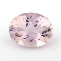 Бледно-розовый берилл морганит формы овал, вес 3.1 карат, размер 11.2х9мм (beryl0186)