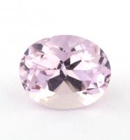 Бледно-розовый берилл морганит формы овал, вес 1.42 карат, размер 8.1х6.6мм (beryl0190)